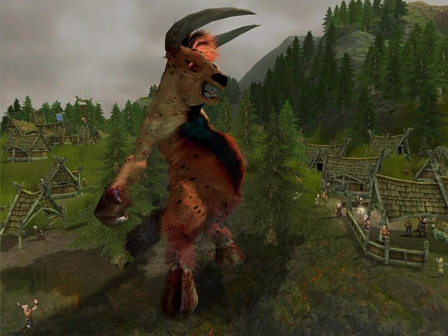 evil creature cow giant slashdot games relic forgotten