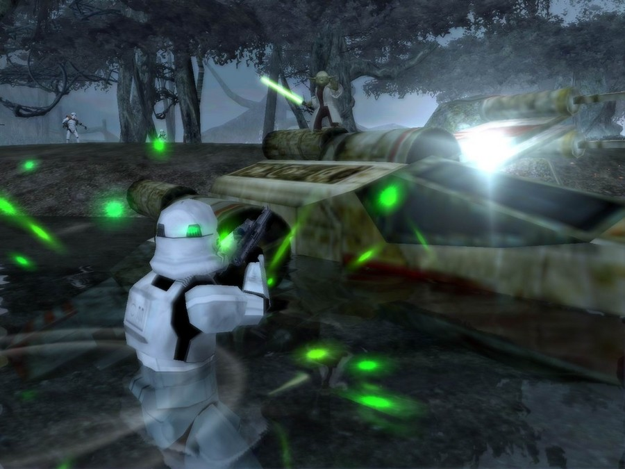The original Star Wars Battlefront (SWB) was the a traditional FPS title
