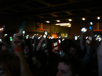 Lightshow during Jonathan Coulton's set.